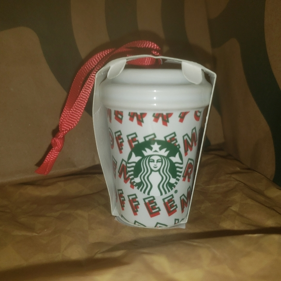 Starbucks Other - Starbucks Merry Coffee Ornament New